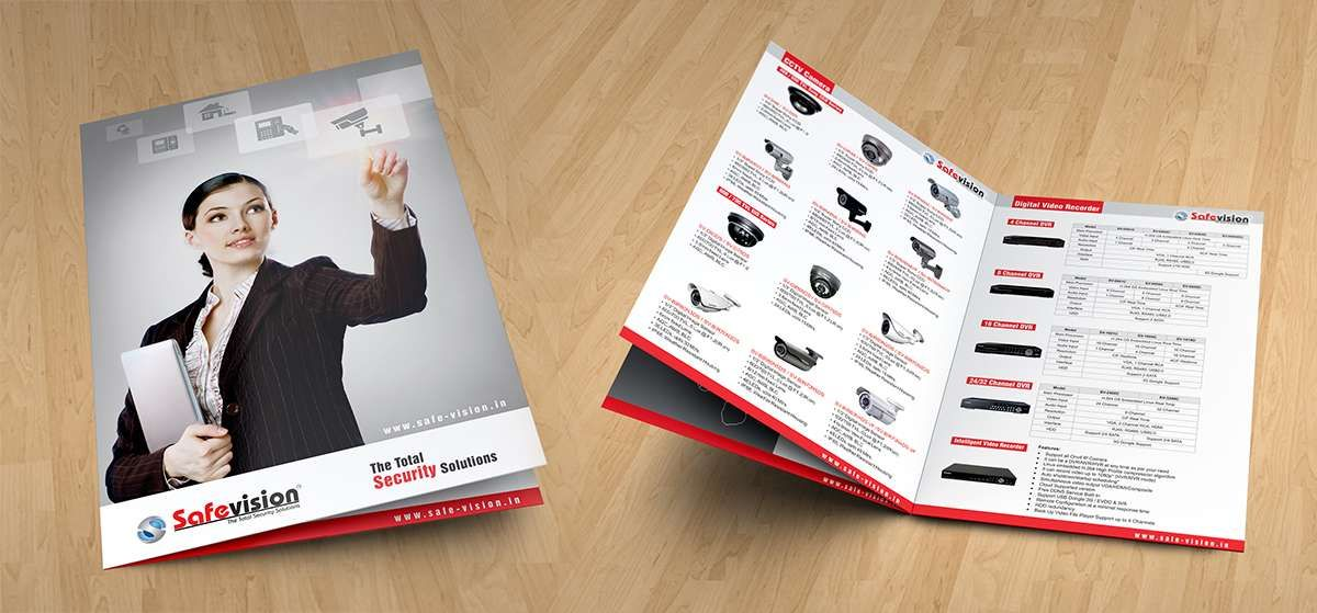 brochure design for safe zone online pvt ltd