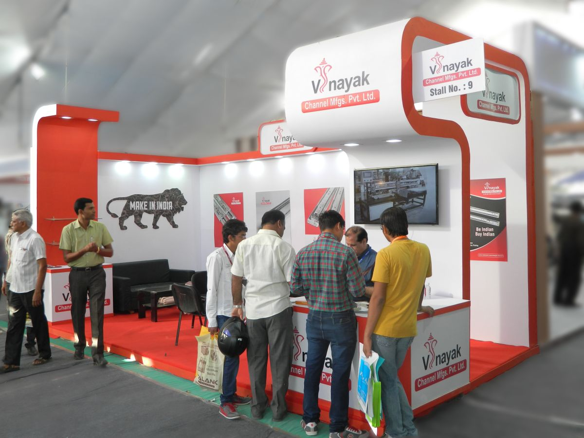 Exhibition Stall Manufacturer In Gujarat : Vinayak channels hardwear show