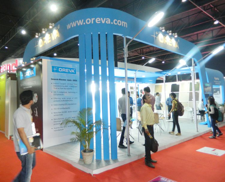 Exhibition Stall Design Ahmedabad : Exhibition stall design for oreva in acetech exhibition