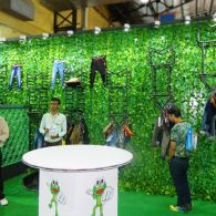 exhibition stall design for cloth brand