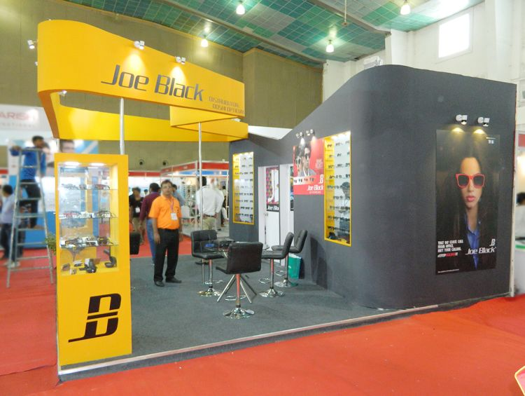 exhibition stall design for eyewear