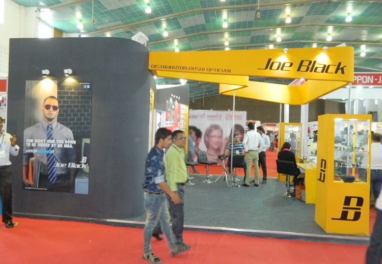 exhibition stall design for optic expo-