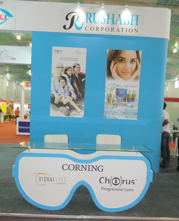 exhibition stall design for eyewear brand