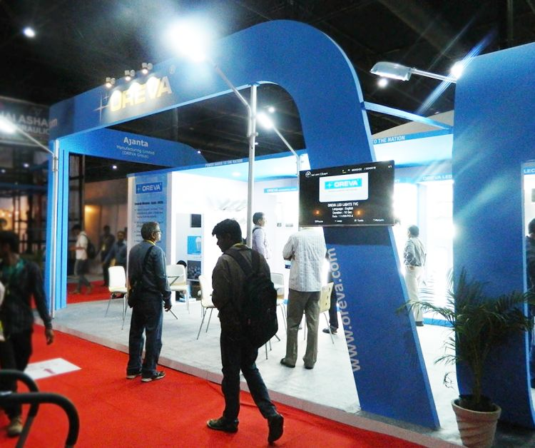 Exhibition Stall Lights : Exhibition stall design for oreva in acetech exhibition
