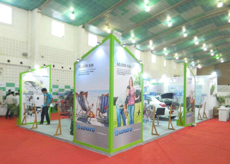 Exhibition Stall Fabricators In Goa : Exhibition stall design for eco fuale lovato auto expo