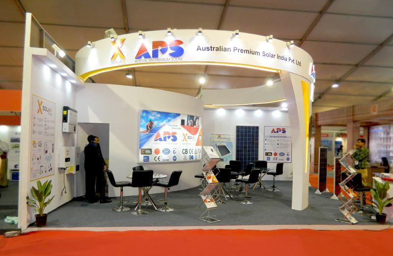 Exhibition stall design for Australian Premium Solar