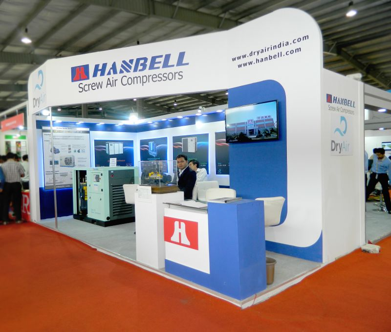 Exhibition Stall Styles : Exhibition stall design for hanbell engimach