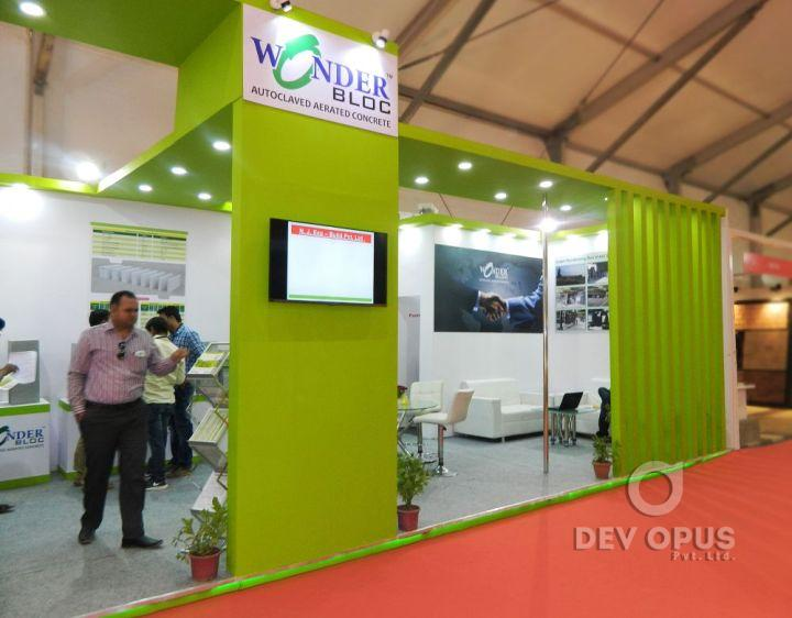 Exhibition Stall Fabricators In Nagpur : Exhibition stall fabrication for wonder block
