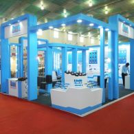 exhibition stall design and fabrection for Oxen in waptag 2016 - 2
