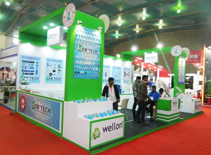 exhibition stall design and fabrection for newtech in waptag 2016 - 1