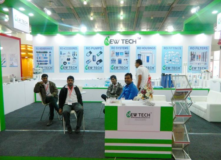 exhibition stall design and fabrection for newtech in waptag 2016 - 2