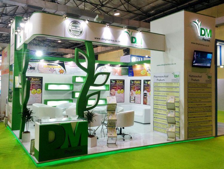 Exhibition Stall Fabricators In Goa : Dm pharma in iphex india