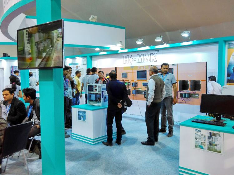 Exhibition Stall Design In Vadodara : Exhibition stall design for hi mak in