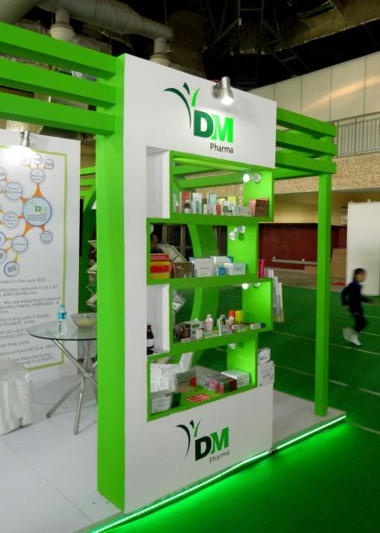 Exhibition Stall Fabricators In Germany : Exhibition stall for dm pharma in being healthy expo