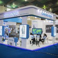 exhibition stall design for Chamunda in pharma tech expo 2016