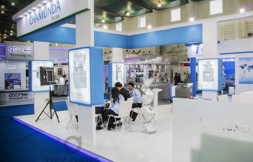 exhibition stall design for Chamunda in pharma tech expo 2016 - 4