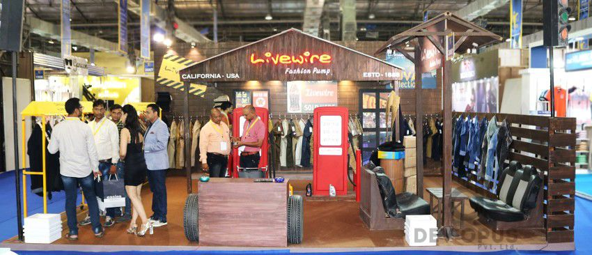 exhibition stall design for livewire CMAI 2016-1