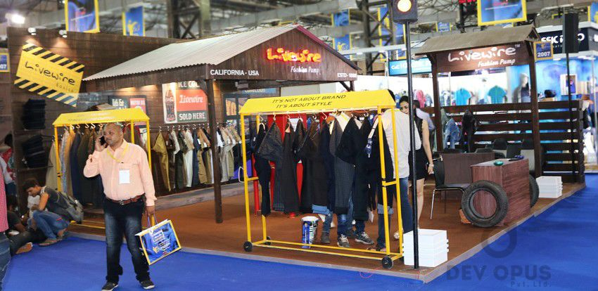 exhibition stall design for livewire CMAI 2016-2