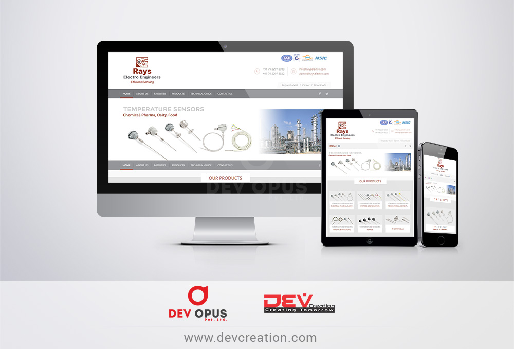 rays electro website design development ahmedabad