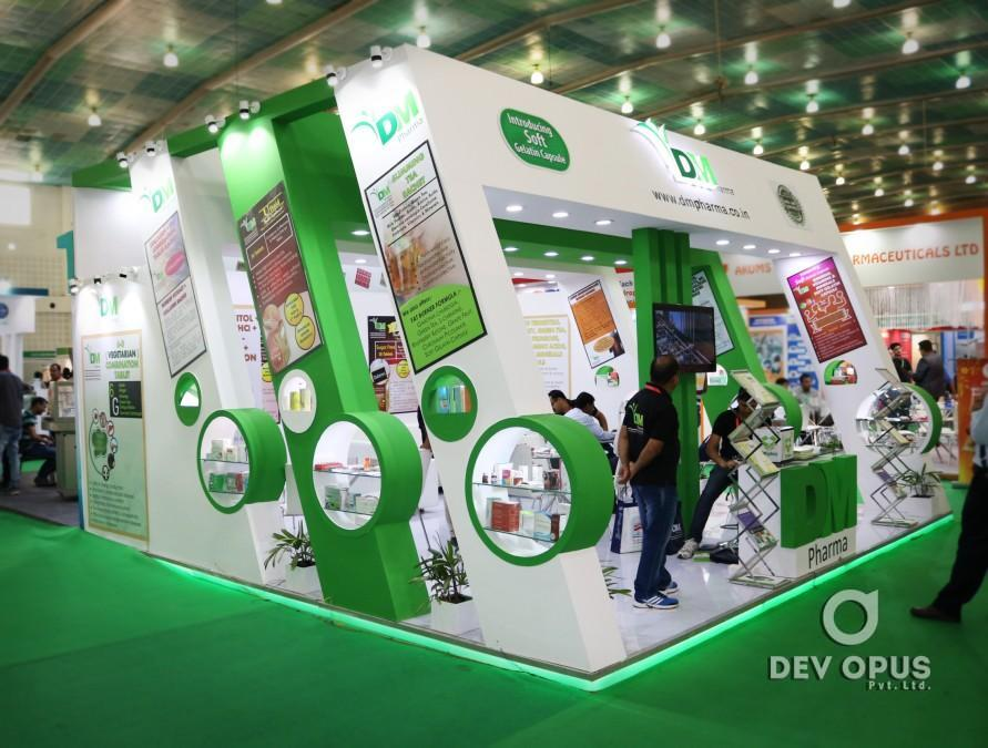 D Exhibition Stall Design : Exhibition stall design for dm pharma