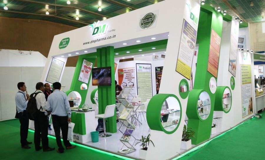 exhibition stall design for DM Pharma 2016 - 2