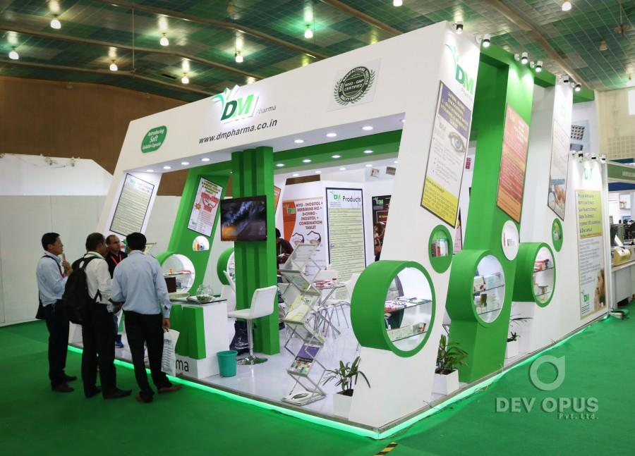 Exhibition Stall In Ahmedabad : Exhibition stall design for dm pharma