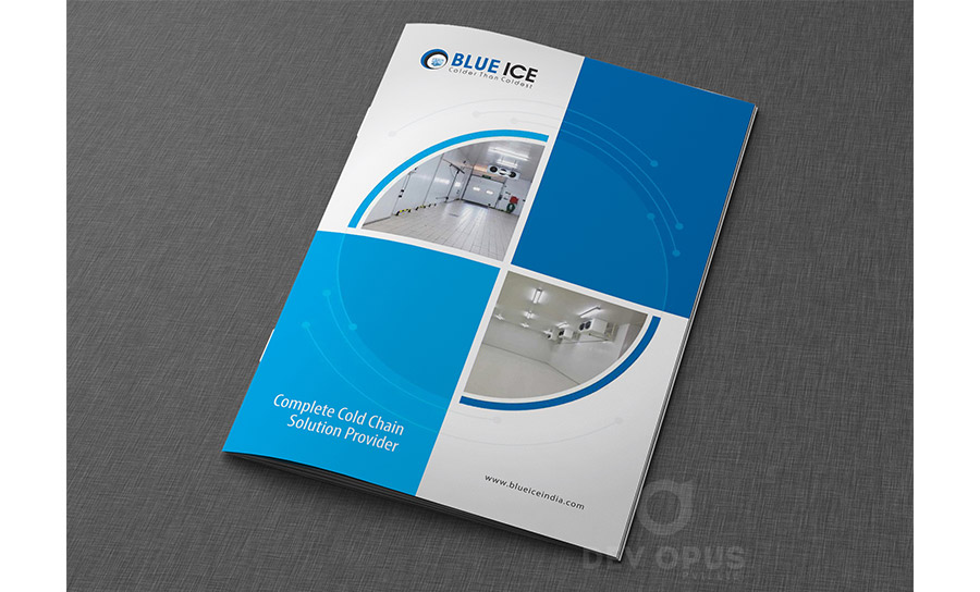 blue ice brochure design - Brochure Design Ideas