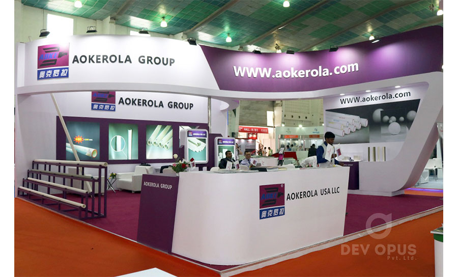 exhbition stall creating for Aokerola in Asia ciramic 2017