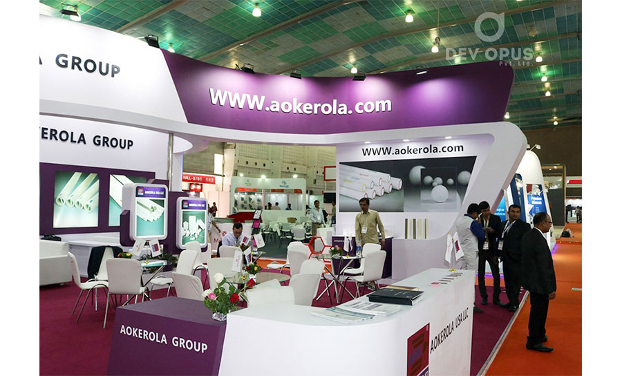 exhbition stand making for Aokerola in Asia ciramic 2017